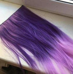 fake hair / strands purple