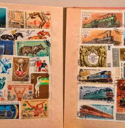 Collection of vintage stamps from the times of the USSR