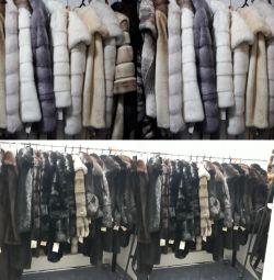 Mink coats.