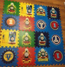 Rug puzzle for children. 2 sets