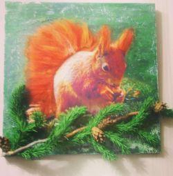 Картина Білка на гілці.