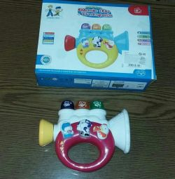 Absolutely new children's pipe pipe + batteries