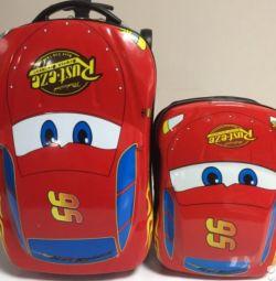 Παιδική βαλίτσα με σακίδιο Αυτοκίνητα