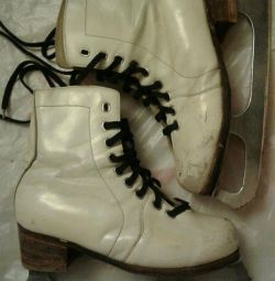 Skates. Leather.