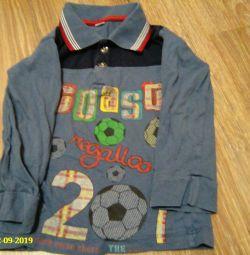 рубашка-поло из трикотажа
