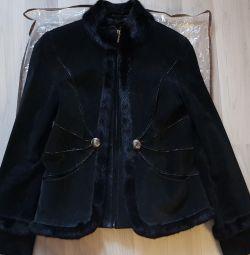 Куртка замшева з норкою