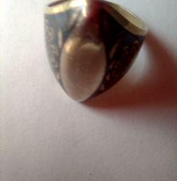 inel de epocă, argint 925 cu stea