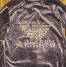 Selling adolescent velor suit ARMANI