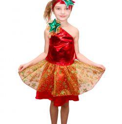 Детский карнавальный костюм звезда новогодняя