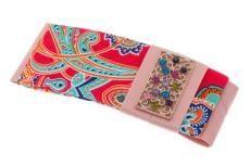 Barrette. Fabric, rhinestones