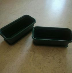 Trays for flowers green