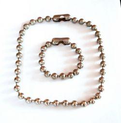 Set of bracelet + chain