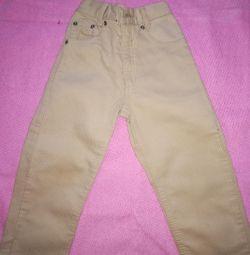Vilvet pantaloni înălțime 98