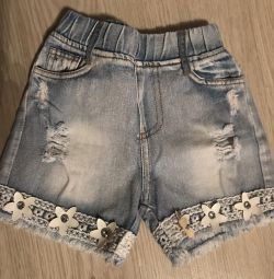 Children's jeans shorts 1-3 years