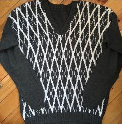 Men's knit cardigan