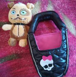 М'яка іграшка Монстр Хай.в комплекті з сумкою