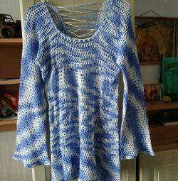 Knitted Original Tunic Handmade