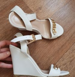 Sandale noi pe panza Vitacci, piele, 38-38.5p.