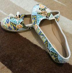 Pantofi de balet, mocasini noi de vară