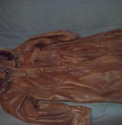 Doğal kış deri ceket