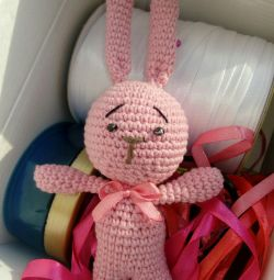 Knitted hare.