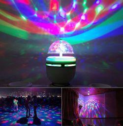 Led lamp rotates 3 colors