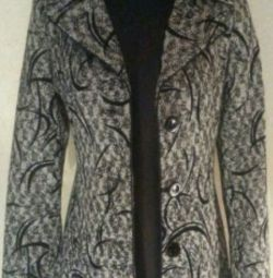 Coat black and white