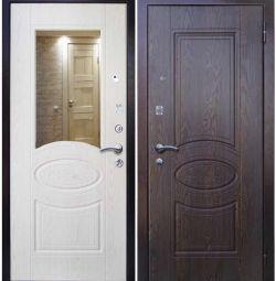 Стальная входная дверь А3 с зеркалом