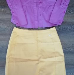 Продаю комплект рубашка и юбка
