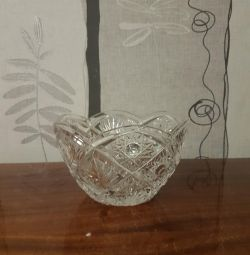 Vase crystal.Vremen USSR.