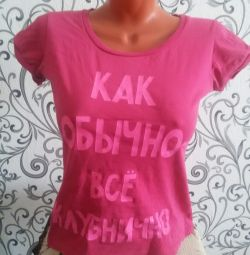 T-shirt with lettering
