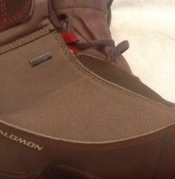 Pantofi adolescenți Salomon Gore Tex