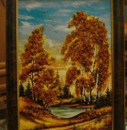 Νέα εικόνα από πορτοκαλί σε πλαίσιο. Μέγεθος-35x26cm.