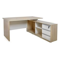 OFFICE CORNER PROFESSIONAL 160X160 SONAMA WHITE H