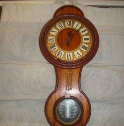 ρολόι χαλαζία φάρος ρολόι με ένα θερμόμετρο
