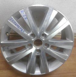Cast wheel Volkswagen Transporter T6 R17 (15>) oem 7e0601025 (small loss) (skl-3)