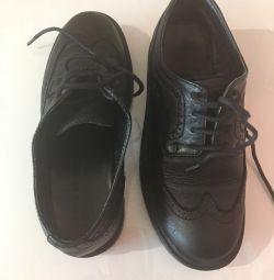 Ботинки  подростковые, Zara,натуральная кожа .