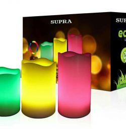 A set of LED candles SUPRA 12 colors