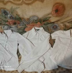 3 school blouses for a girl 128 / 140cm