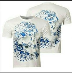 T-shirt with 3 D pattern Skull