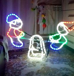 Swing shape electric light figure