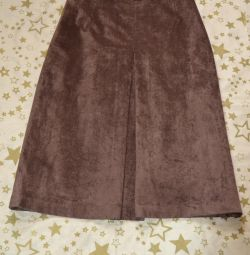 Skirt made of artificial suede