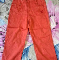 Pantaloni copii noi pentru fete, râul 110