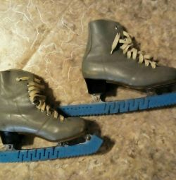 Figure skates, genuine leather, size 22,5