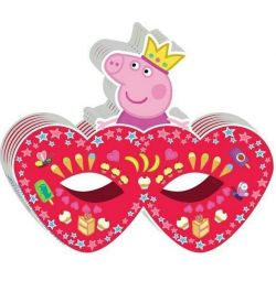 Peppa mask - princess 6 pcs