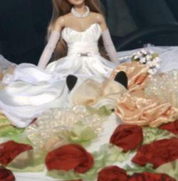 Doll.New pe masina nunta.60cm.Music