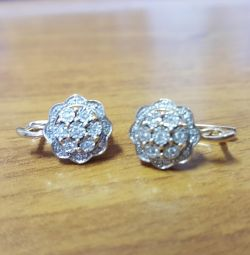 Earrings with diamonds 0.59kr
