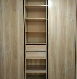 Sliding wardrobe built-in 222sh * 260v * 62g 3-wing