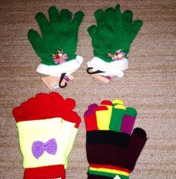 Çocuklar için yeni eldivenler