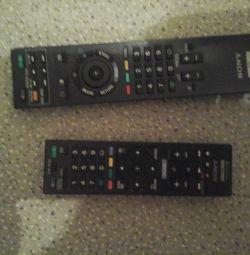 TV remotes sony